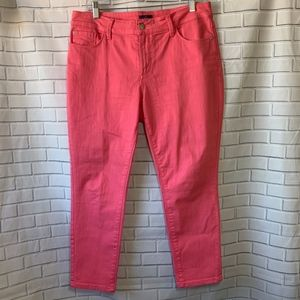NYDJ Clarissa Hot Pink Ankle Jeans Size 12P